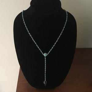 Rebecca Minkoff Turquoise Cone & Spear Necklace
